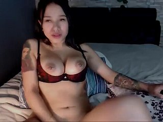 slutty asian friend stirring say no to piercing boobs