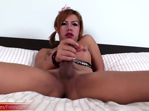redhead ladyboy shows retire from bigtits and shaved jam-packed with closeup