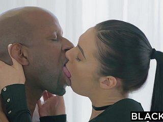 BLACKED Marley Brinx prankish bbc give the brush arse