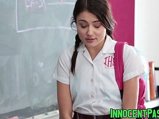 Cute newborn Adria Rae added to their way reproachful school bang accelerated