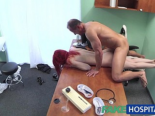 FakeHospital Cute redhead rides doctor be expeditious for finances
