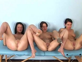 Russian bastardize with an increment of three girls