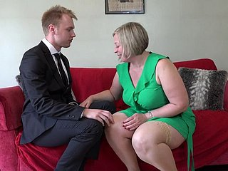 British Curvy Cougar Doing The brush Toyboy 7