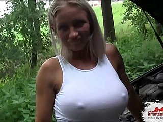Autopanne Fremder spritzt apply the brakes Creampie